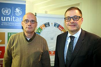 Jan Moens (ACLVB, links) en Peter Wollaert (CIFAL, rechts)
